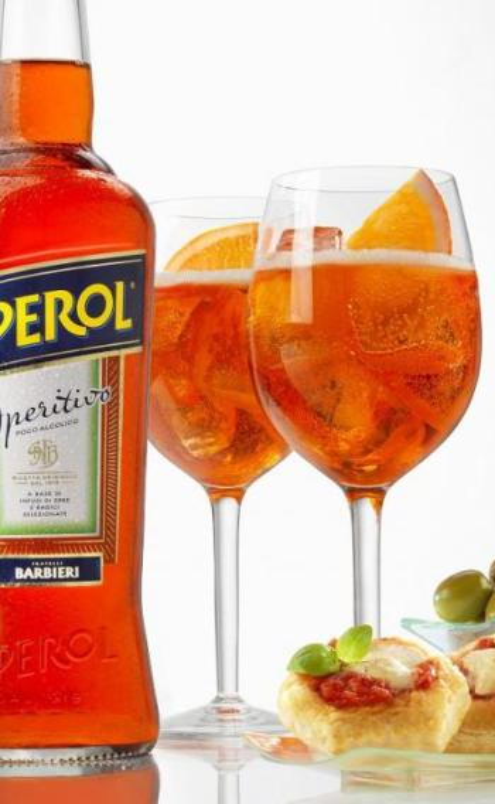 aperol spritz with snacks