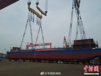China's first all-electric vessel entered the water in mid-November.