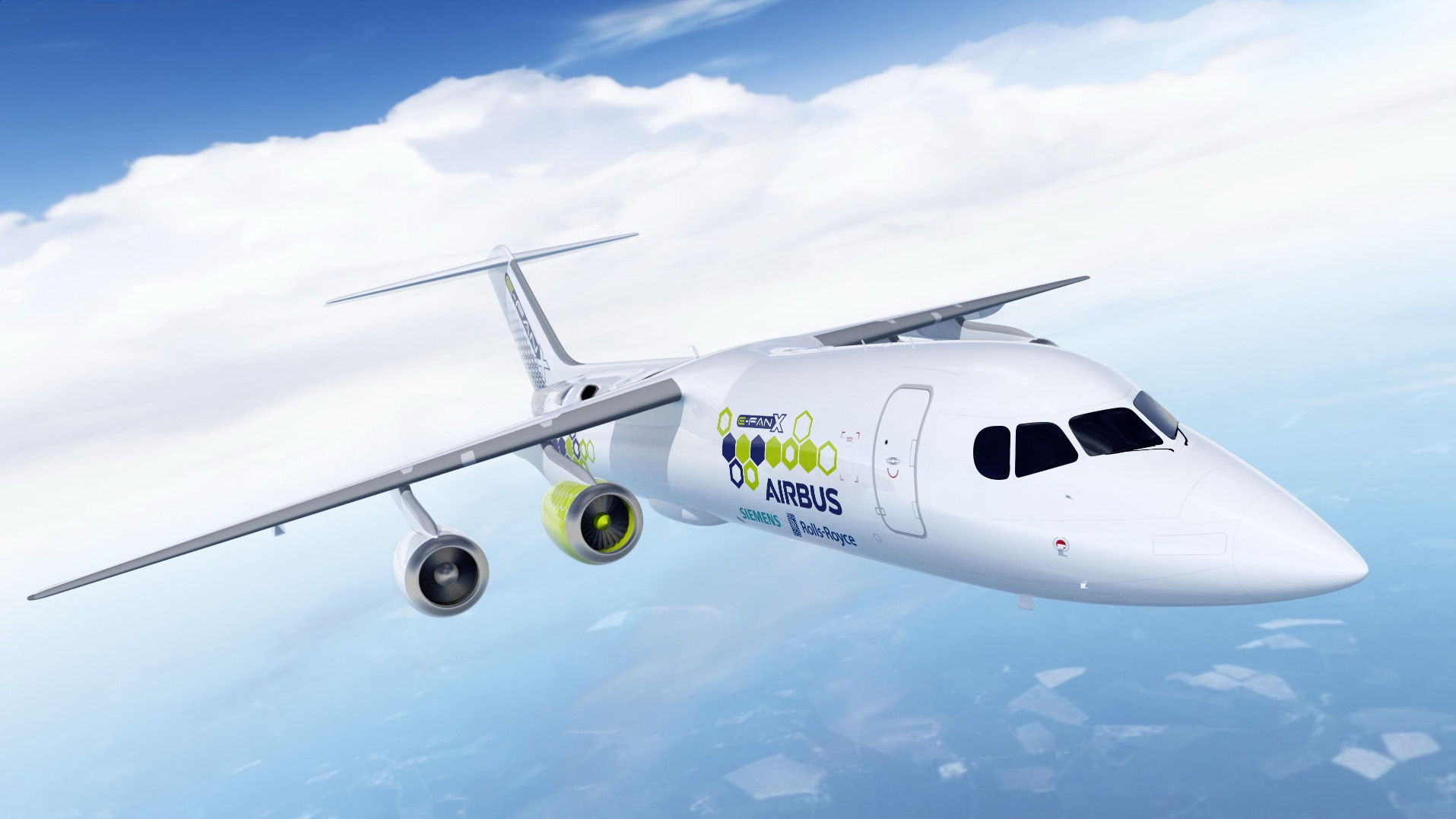 The E-Fan X hybrid-electric plane.