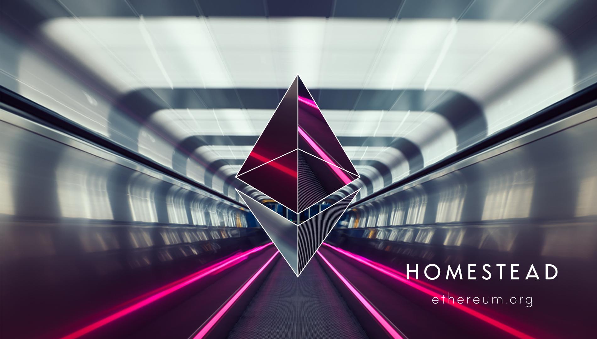 Ethereum logo against a futuristic backdrop.