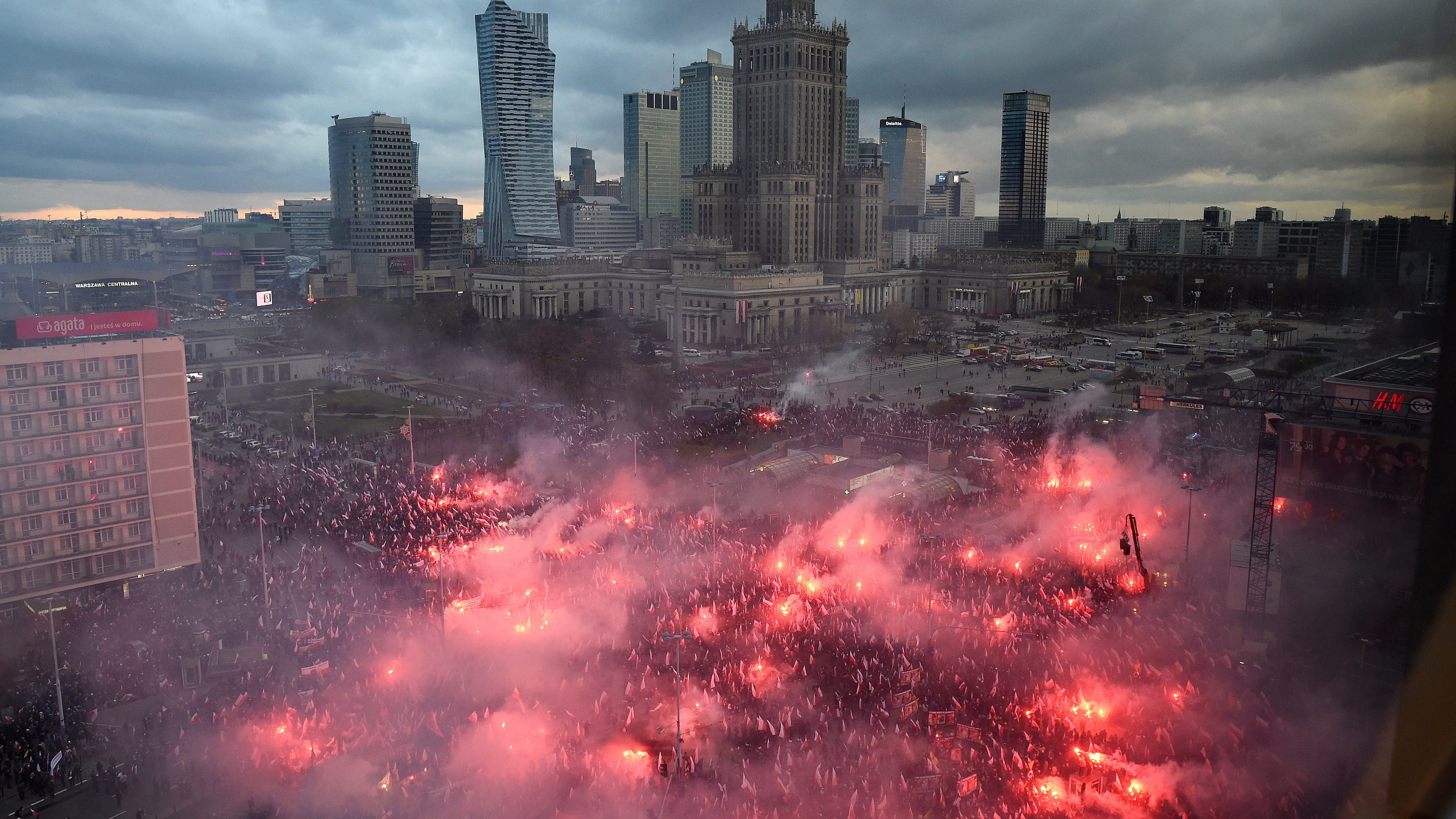 March of Independence in Warsaw