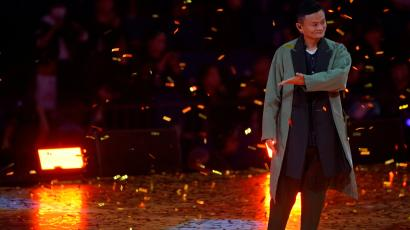Jack Ma, Chairman of Alibaba Group, attends a show during Alibaba Group's 11.11 Singles' Day global shopping festival in Shanghai, China, November 10, 2017.