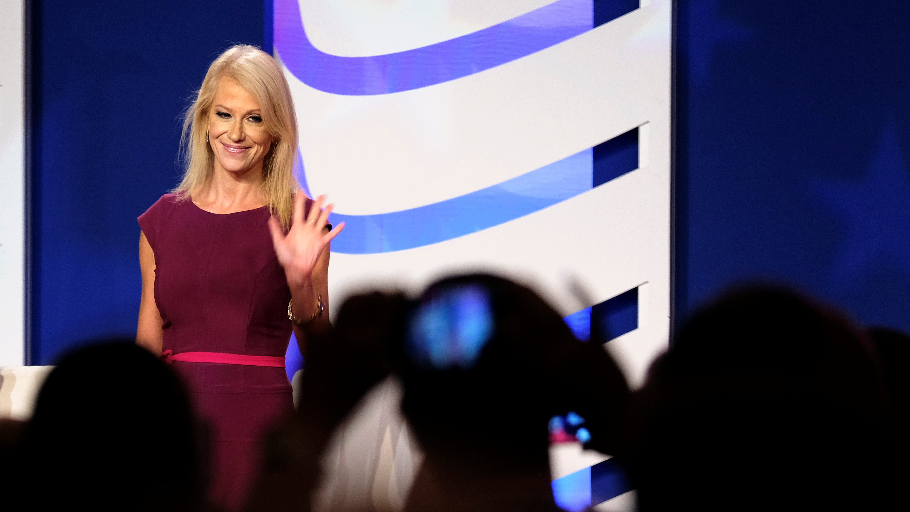 White House counselor Kellyanne Conway speaks at the Values Voter Summit of the Family Research Council in Washington, DC, U.S. October 13, 2017.