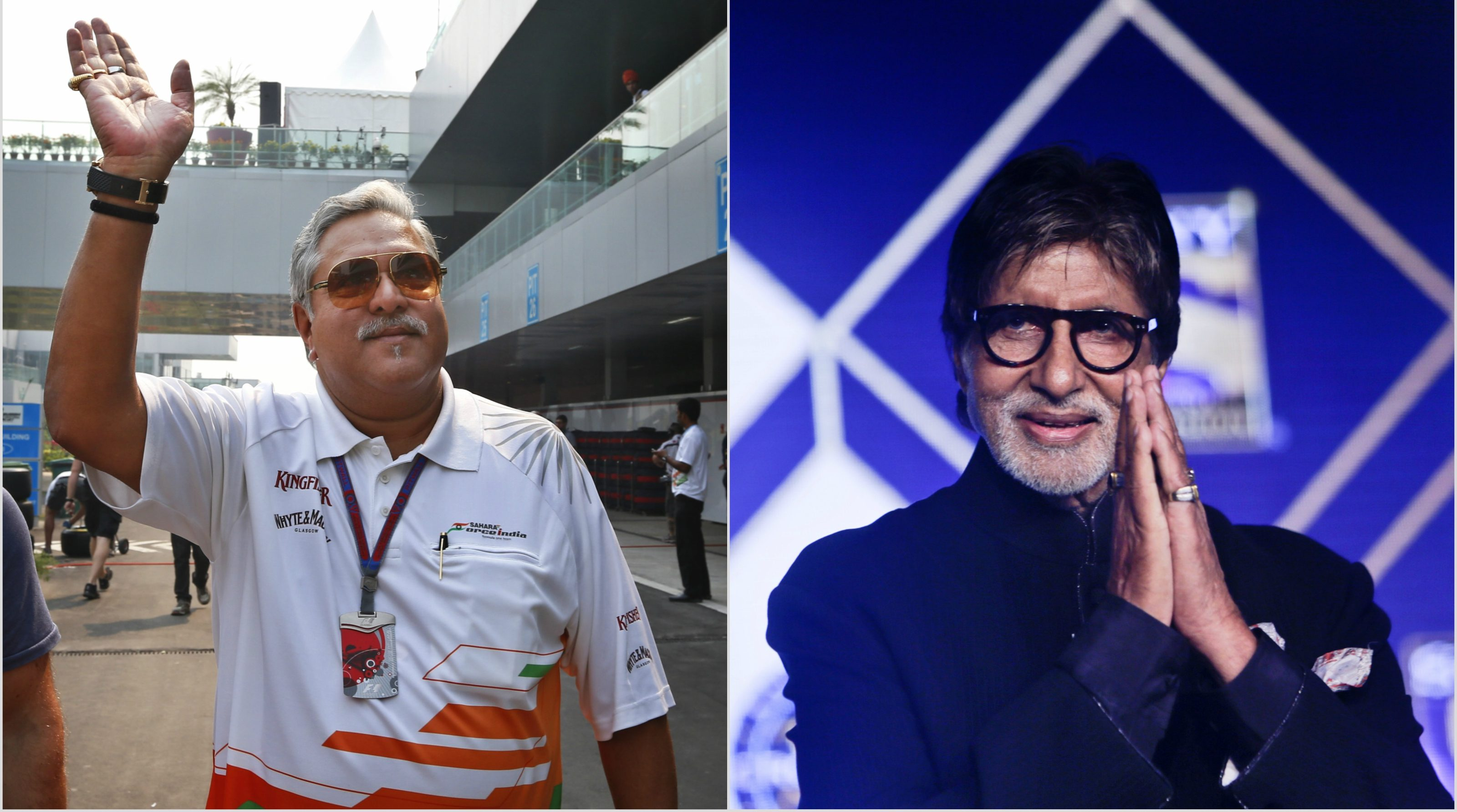 Vijay Mallya and Amitabh Bachchan