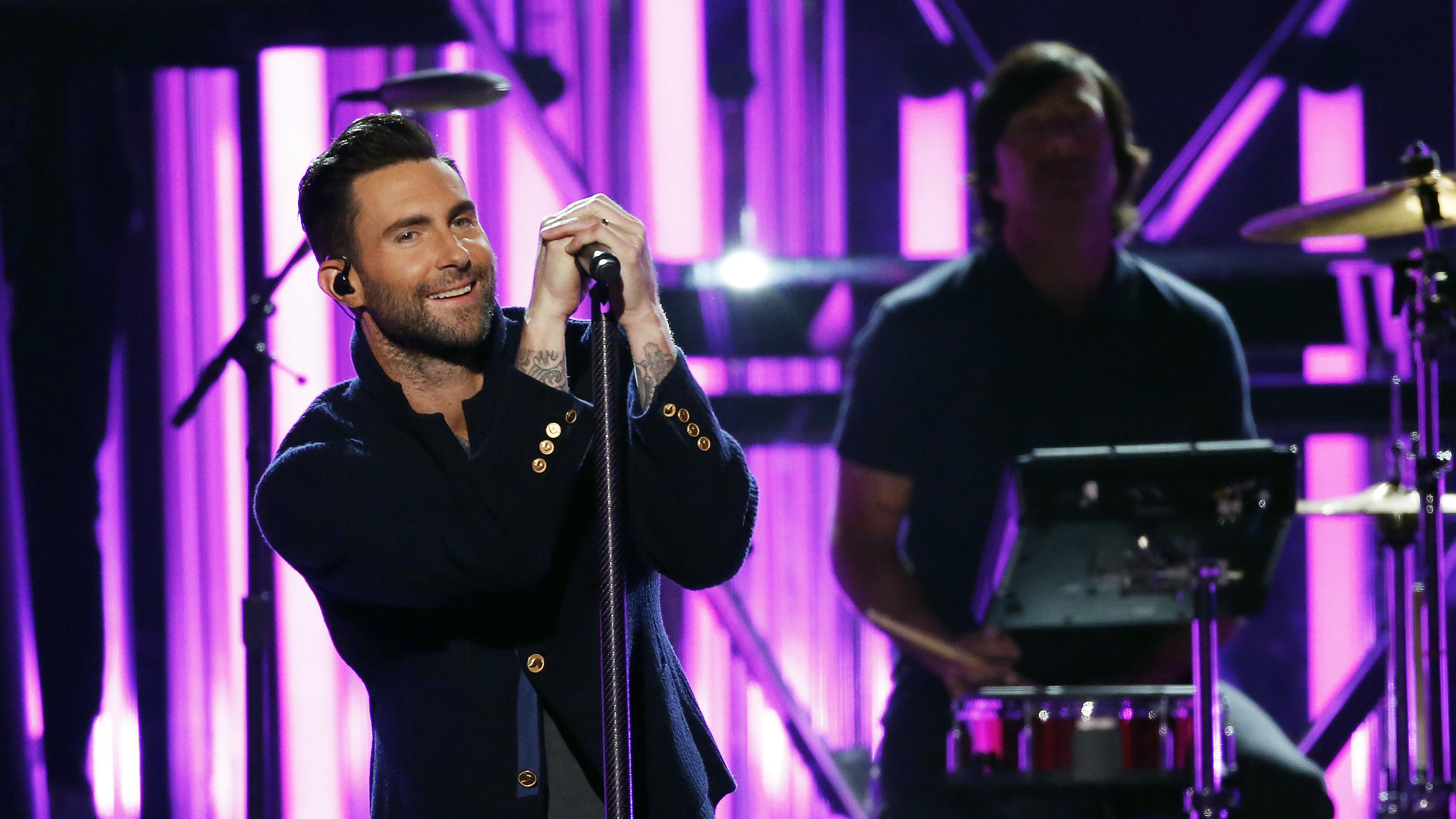 Maroon 5 performing.
