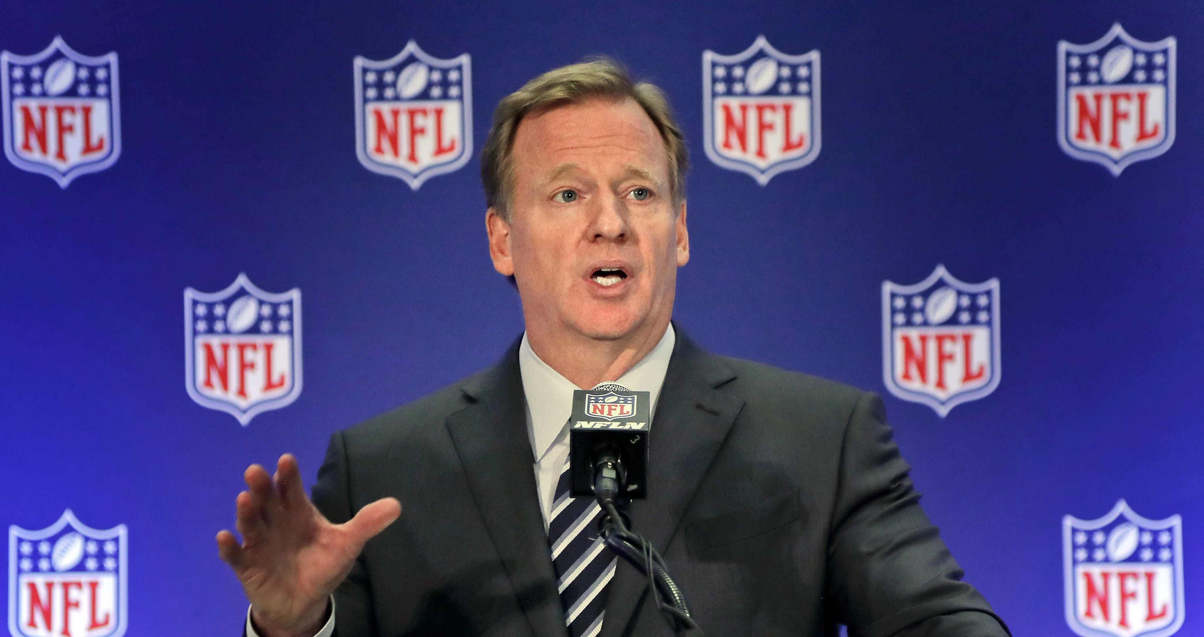 Roger Goddell wants to be paid almost $50 million annually.