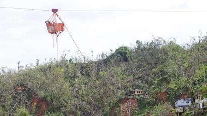 aid delivery by zip line in utuado puerto rico after hurricane maria
