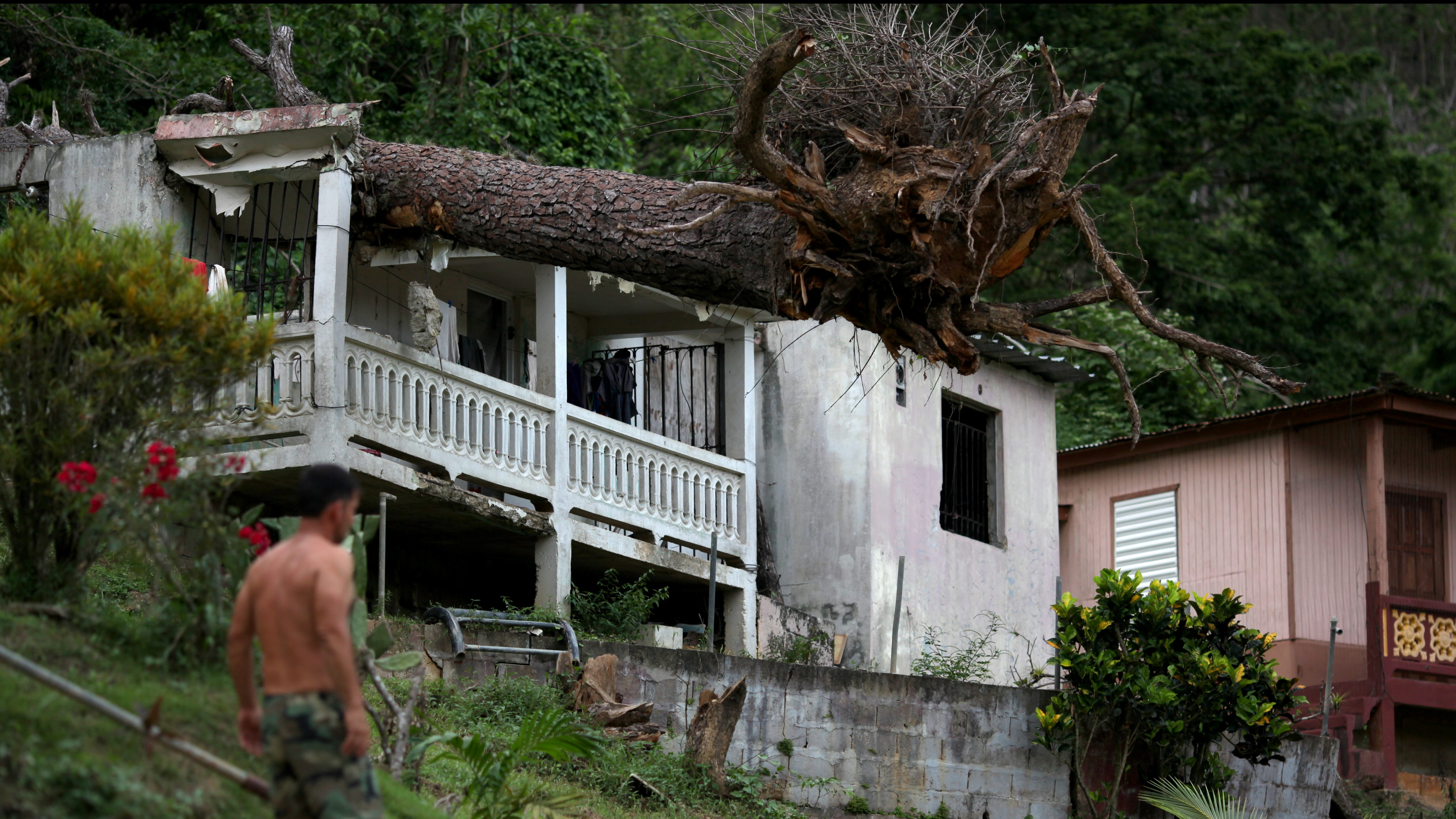 a house destroyed by hurricane maria in puerto rico