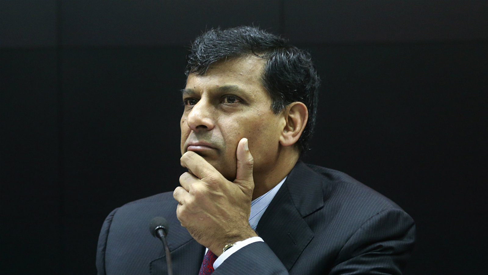 Governor of Reserve Bank of India (RBI), Raghuram Rajan, listens to a question during a press conference to declare the bi-monthly monetary policy statement in Mumbai, India, Tuesday, Aug. 9, 2016. RBI made no changes in the key interest rates.