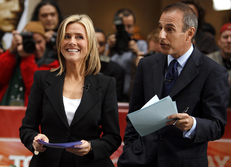Meredith Vieira smiles beside Today co-host Matt Lauer