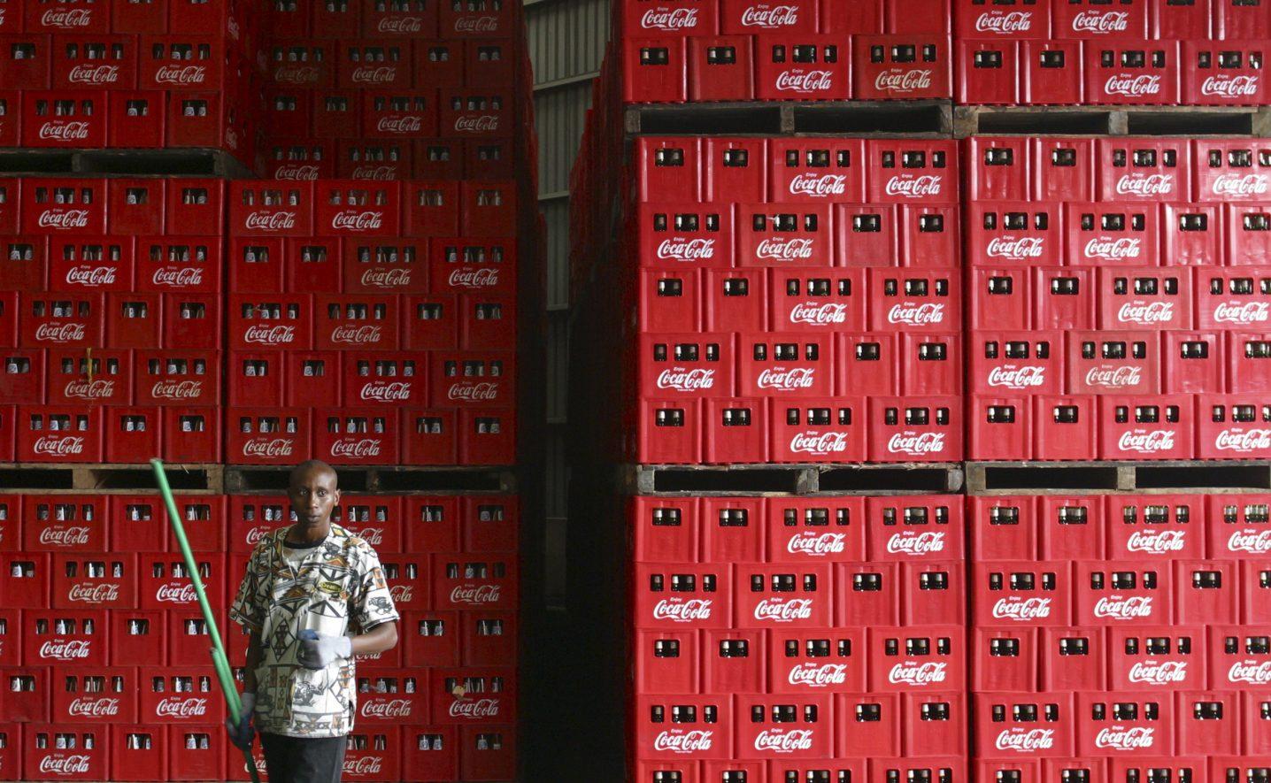 A Coca Cola processing plant in Nairobi, Kenya.