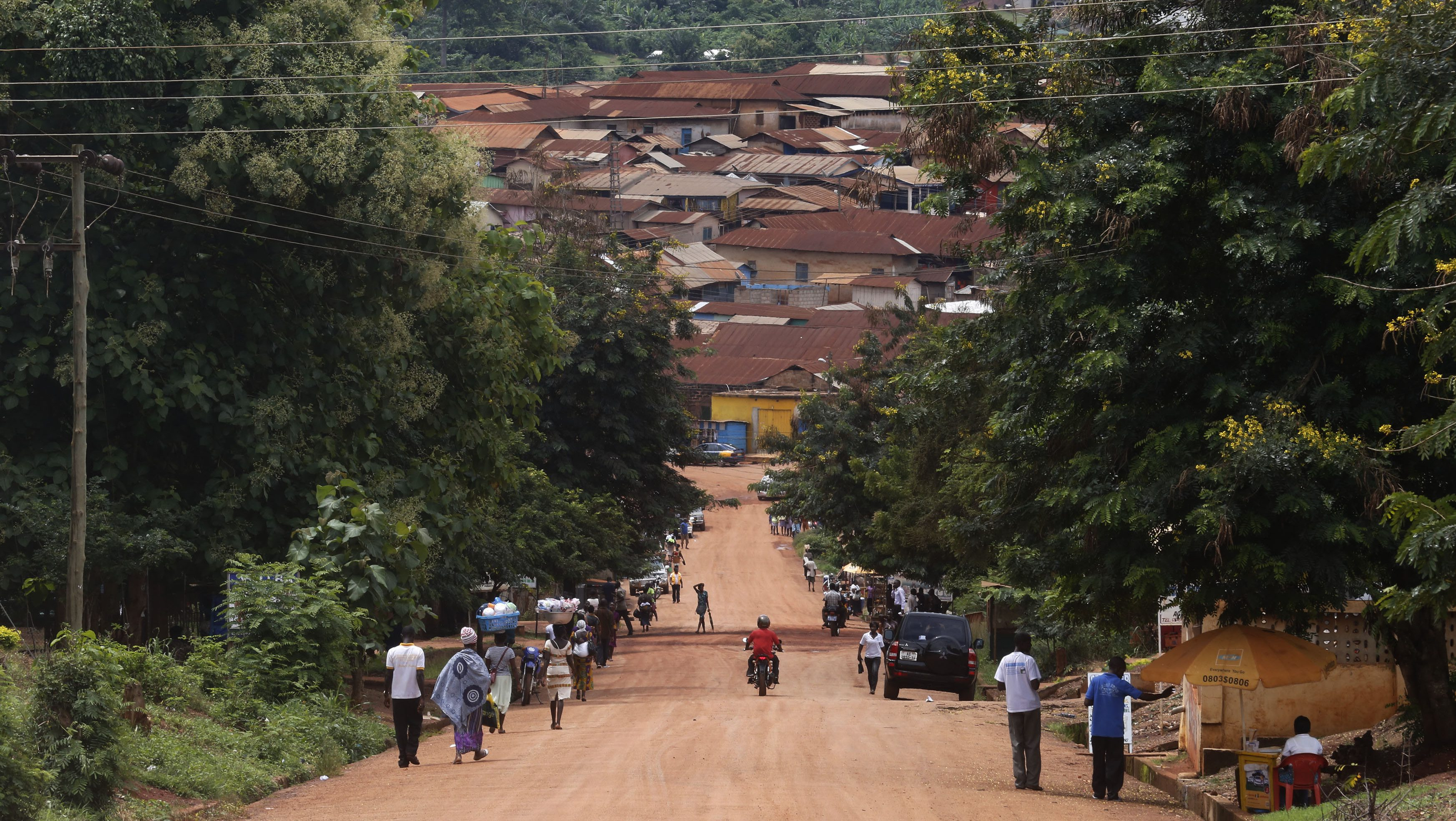General view of the town of Juaboso is seen in Ghana
