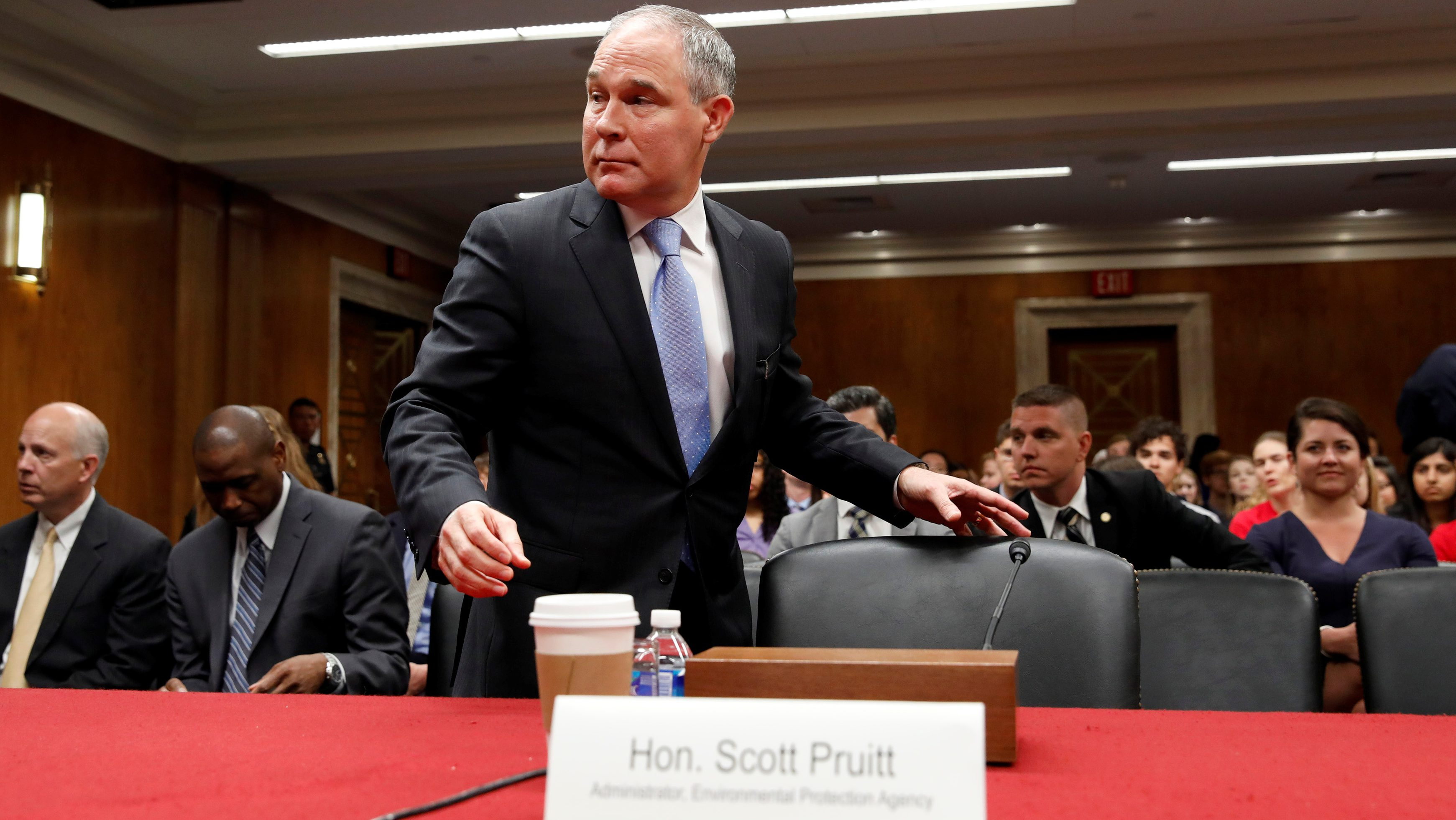 Scott Pruitt, head of the US Environmental Protection Agency