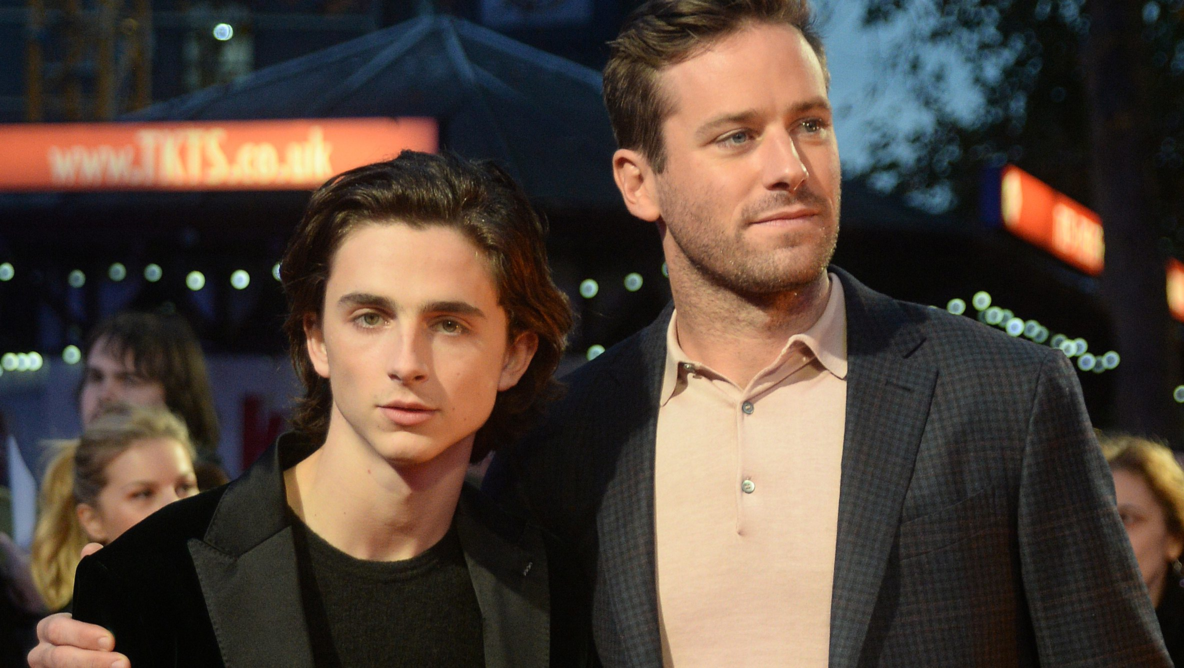"""Actors Armie Hammer and Timothee Chalamet arrive for the UK premiere of """"Call Me By Your Name"""""""