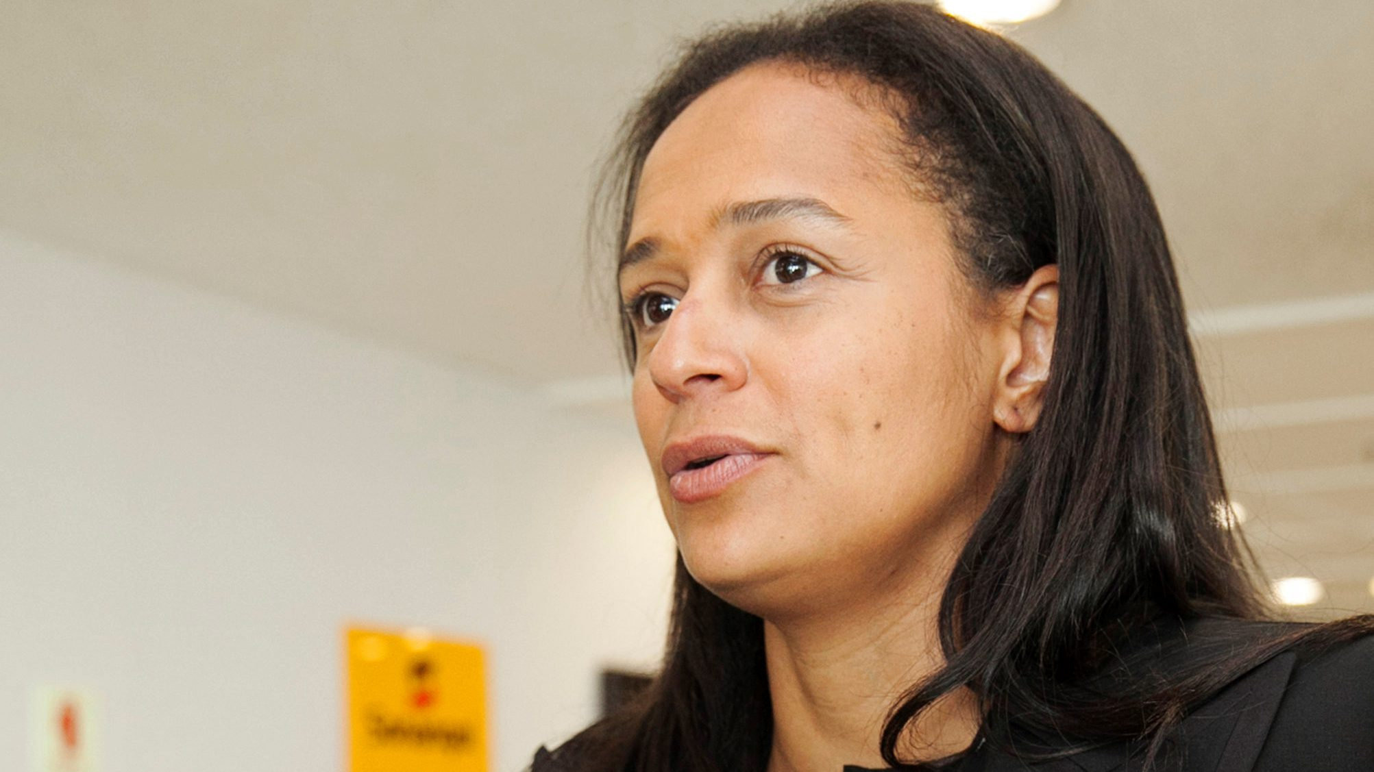 Isabel dos Santos, the daughter of Angolan President Eduardo dos Santos, speaks during an interview in Luanda