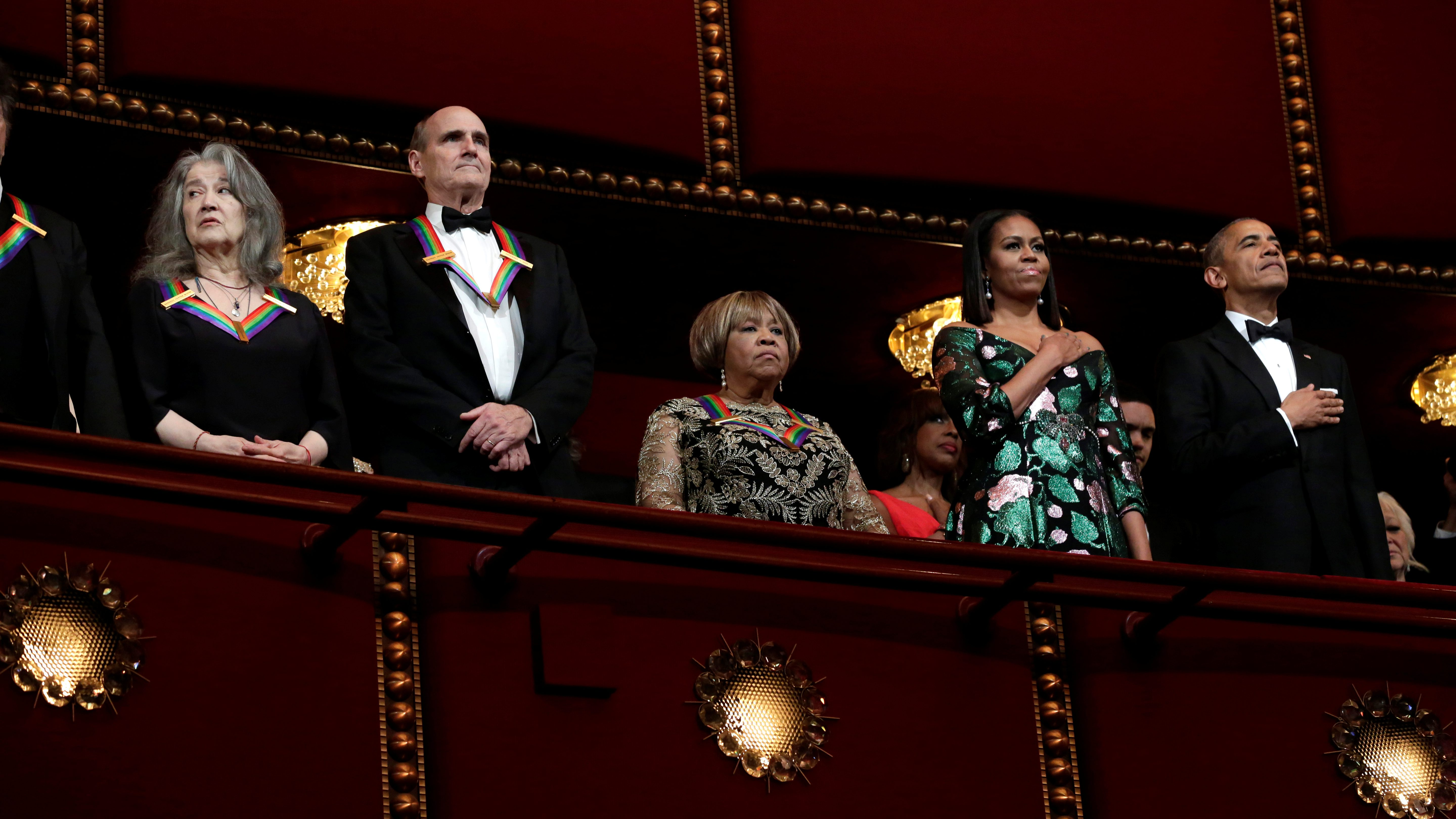 President Barack Obama and first lady Michelle Obama attend the Kennedy Center Honors