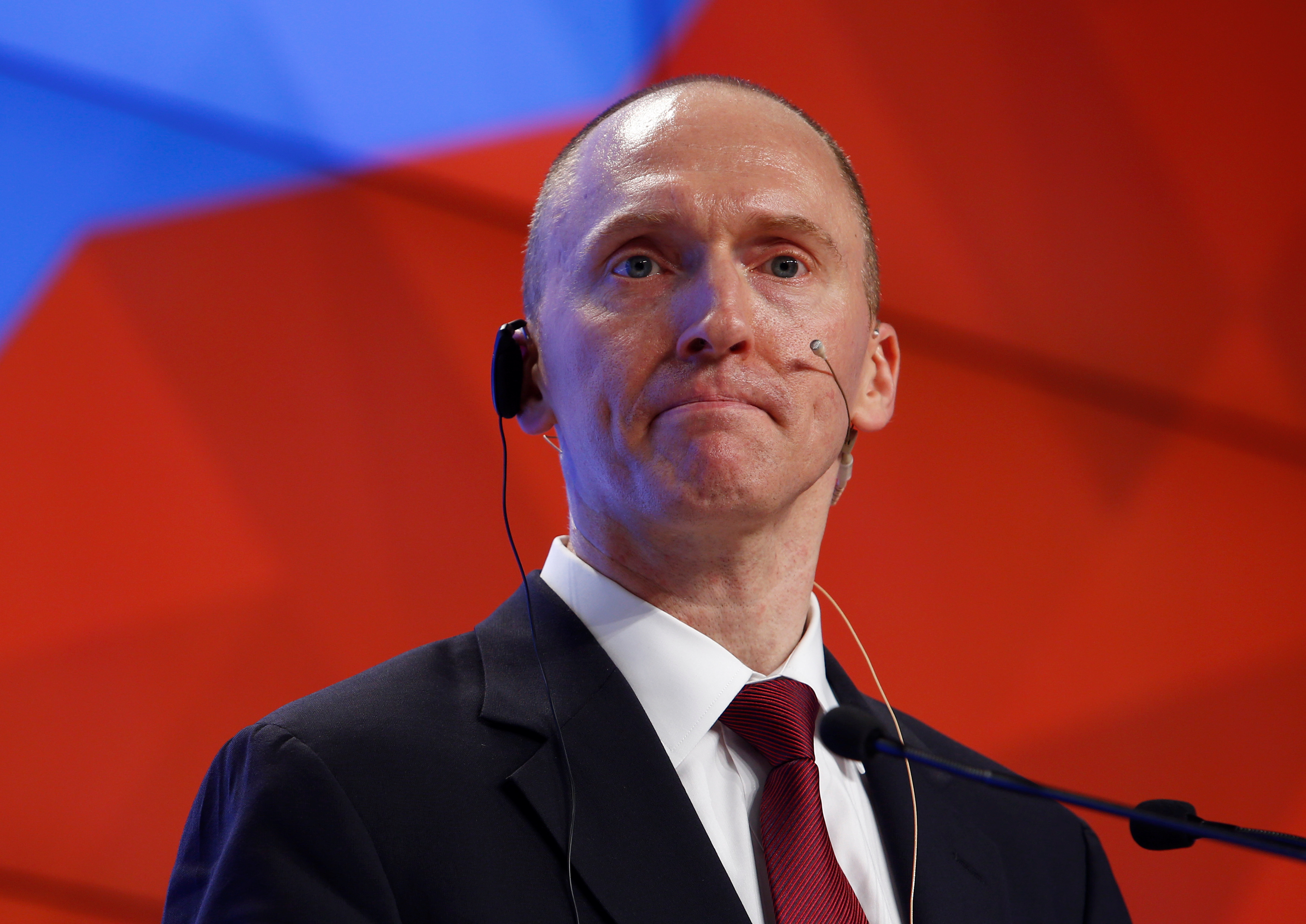 One-time advisor of U.S. president-elect Donald Trump Carter Page addresses the audience during a presentation in Moscow, Russia, December 12, 2016. REUTERS/Sergei Karpukhin - RC1F4BDC7F00