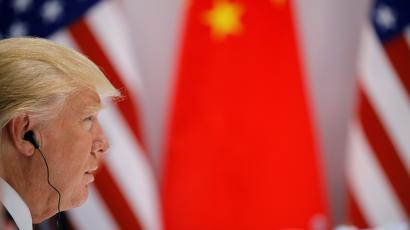 U.S. President Donald Trump attends the bilateral meeting with Chinese President Xi Jinping at the G20 leaders summit in Hamburg, Germany July 8, 2017. REUTERS/Carlos Barria - RC16B3C87680