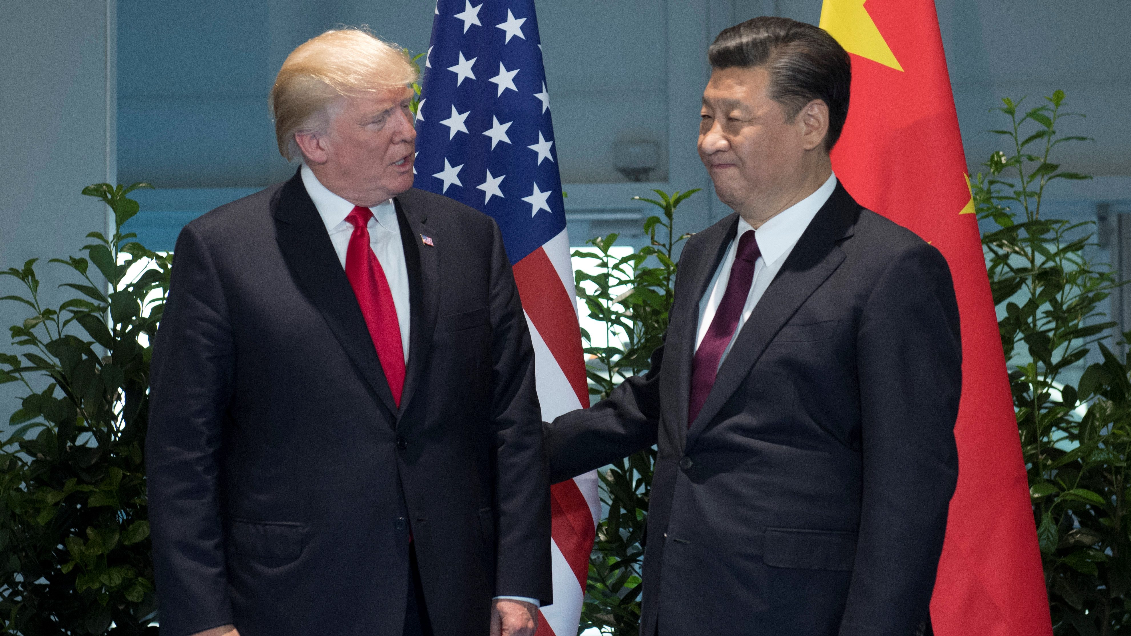 U S President Donald Trump And Chinese President Xi Jinping R Meet On The Sidelines