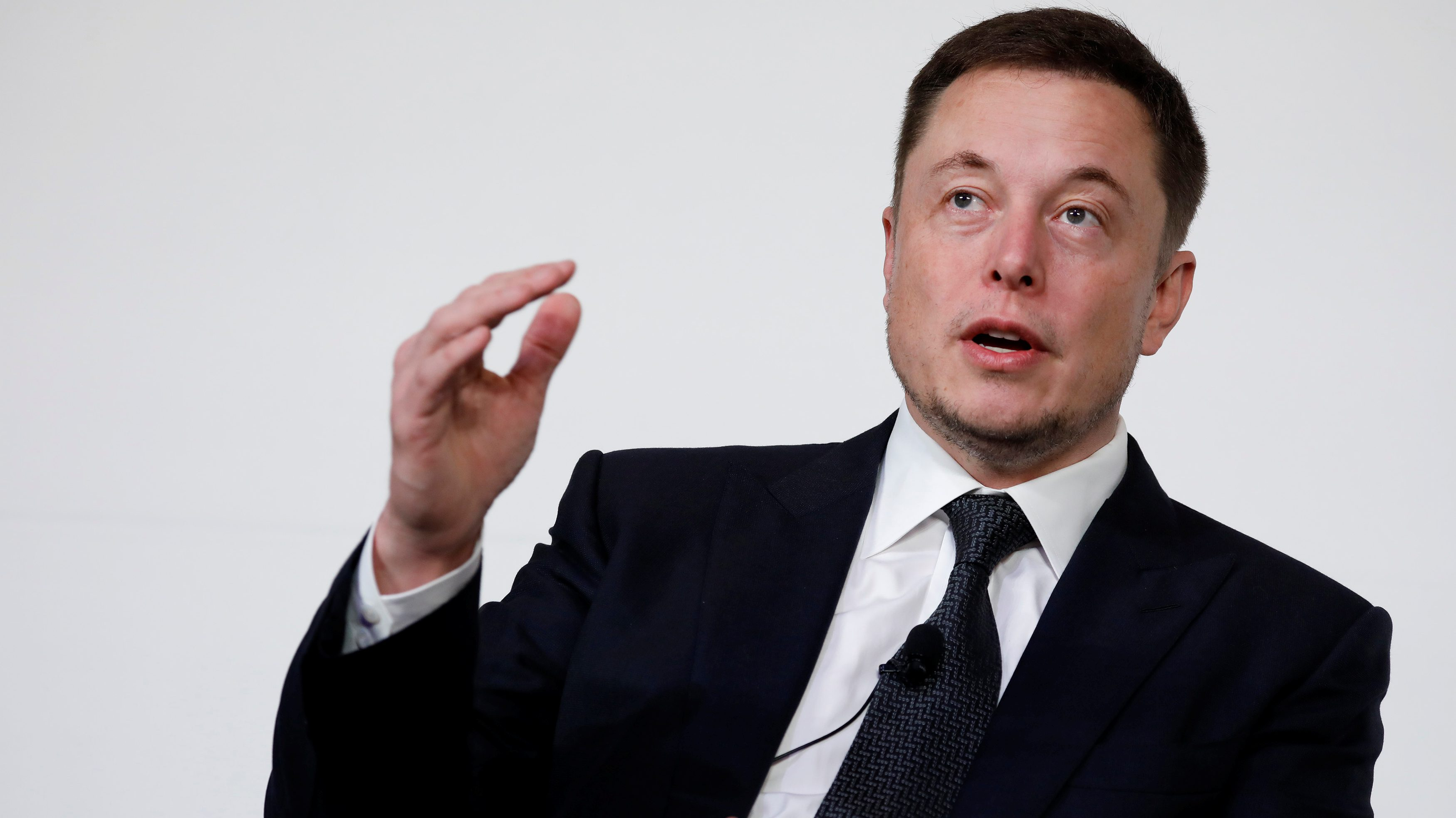 Elon Musk, founder, CEO and lead designer at SpaceX and co-founder of Tesla, speaks at the International Space Station Research and Development Conference.