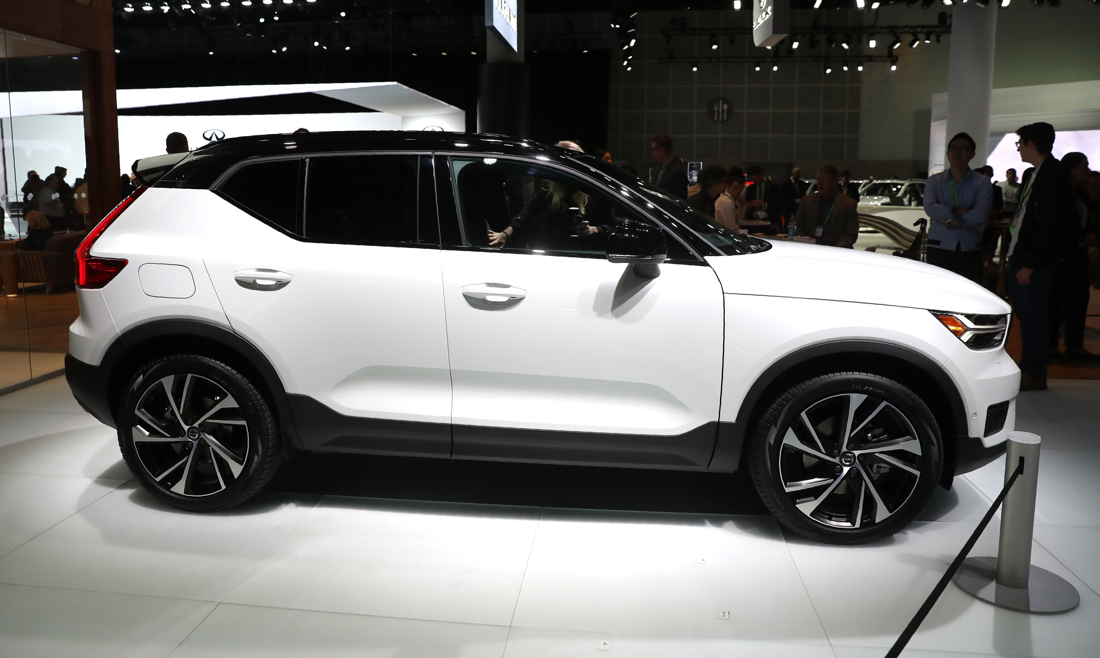 The Volvo XC40 SUV is displayed at the Los Angeles Auto Show in Los Angeles, California U.S. November 29, 2017. REUTERS/Lucy Nicholson - HP1EDBT1OXE9D