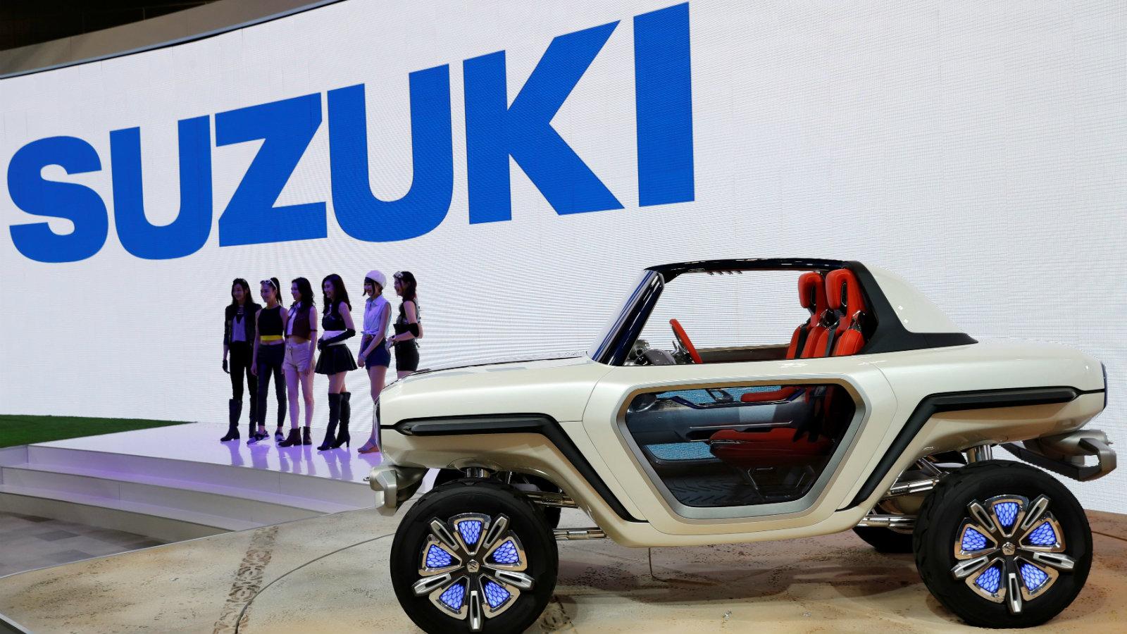 Suzuki Motor's EV e-Survivor concept at the media preview of the 45th Tokyo Motor Show in Tokyo, Japan, Oct. 25, 2017.