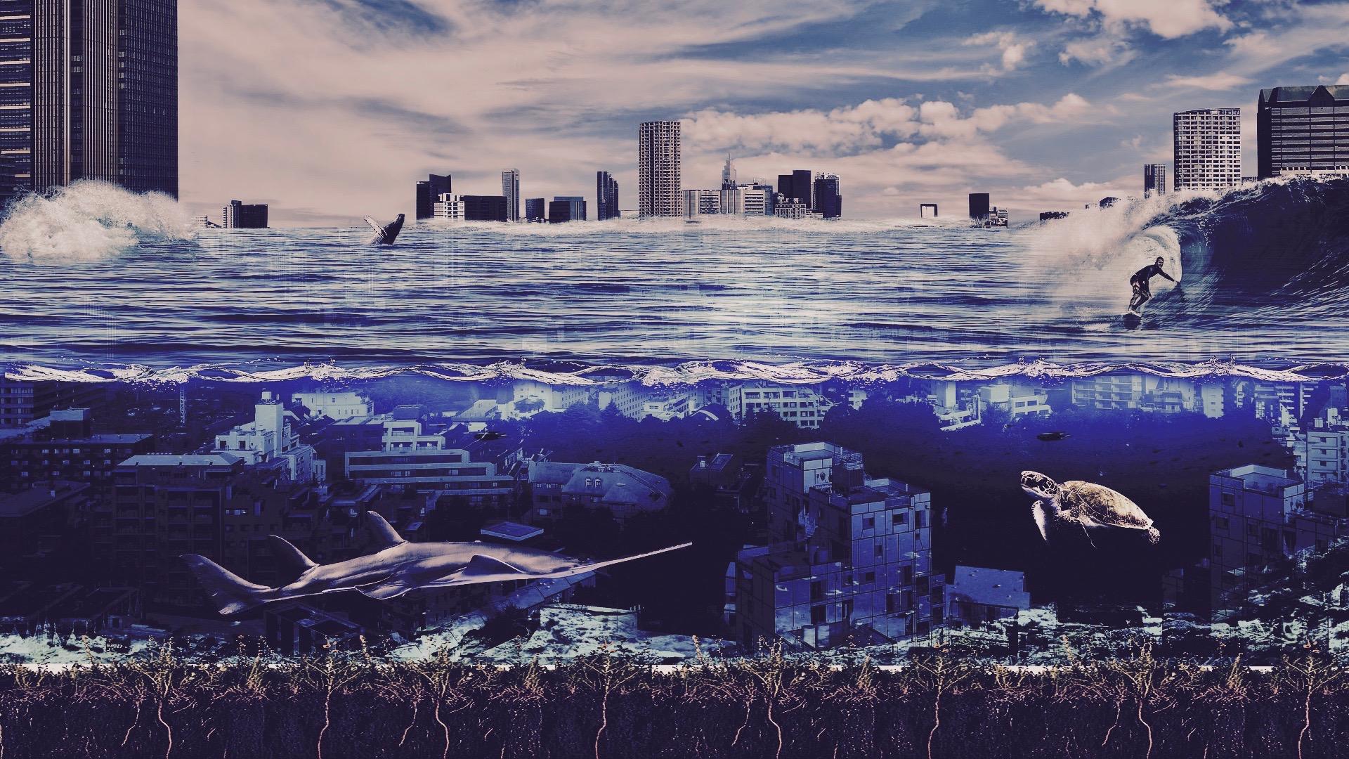 Image of underwater city.