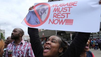 Zimbabweans are celebrating Robert Mugabe's fall, as the 93-year-old leader tries to hold on to power