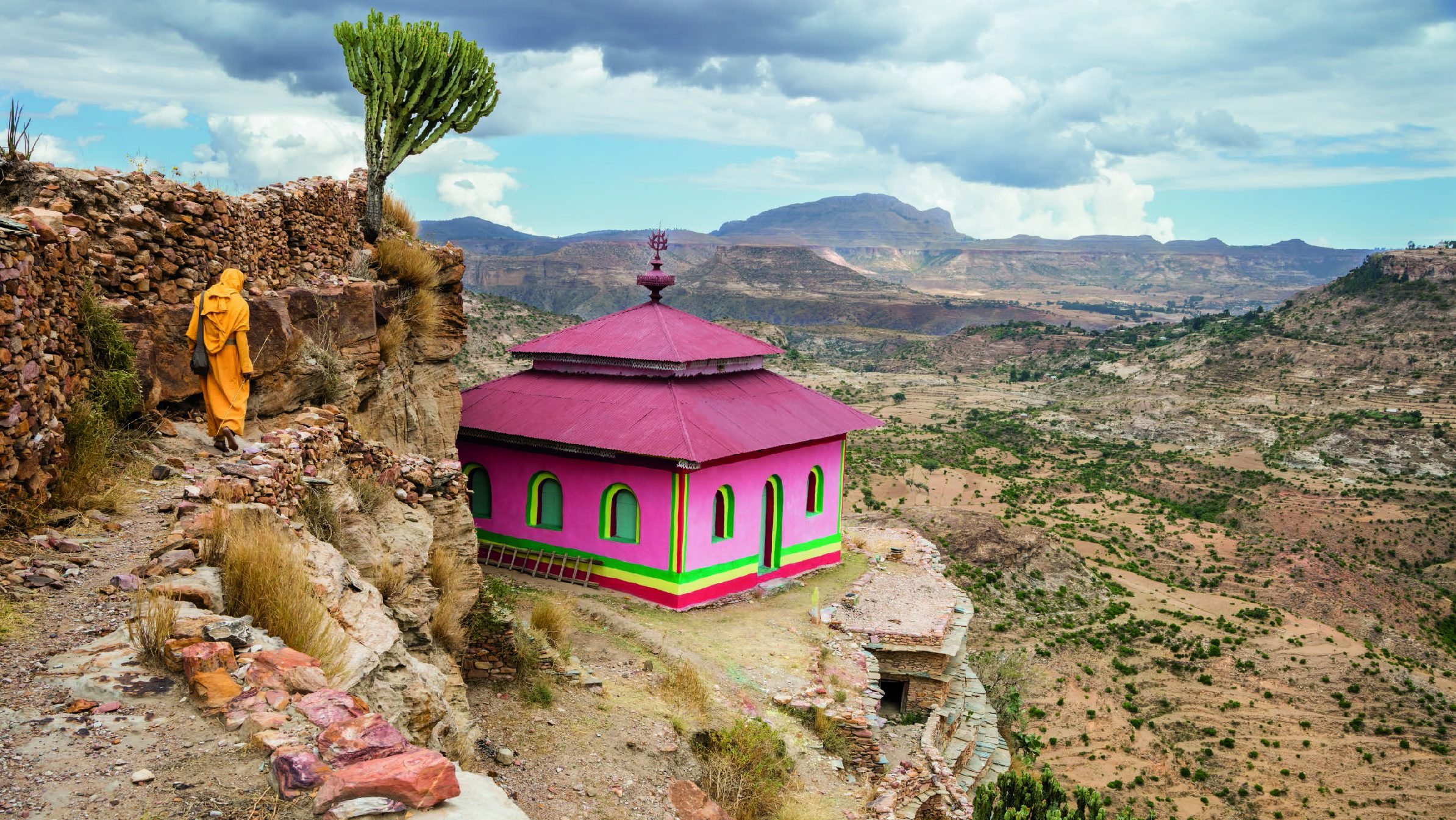 This small, modern church is built in front of the grotto where saint Aragawi is said to have vanished.