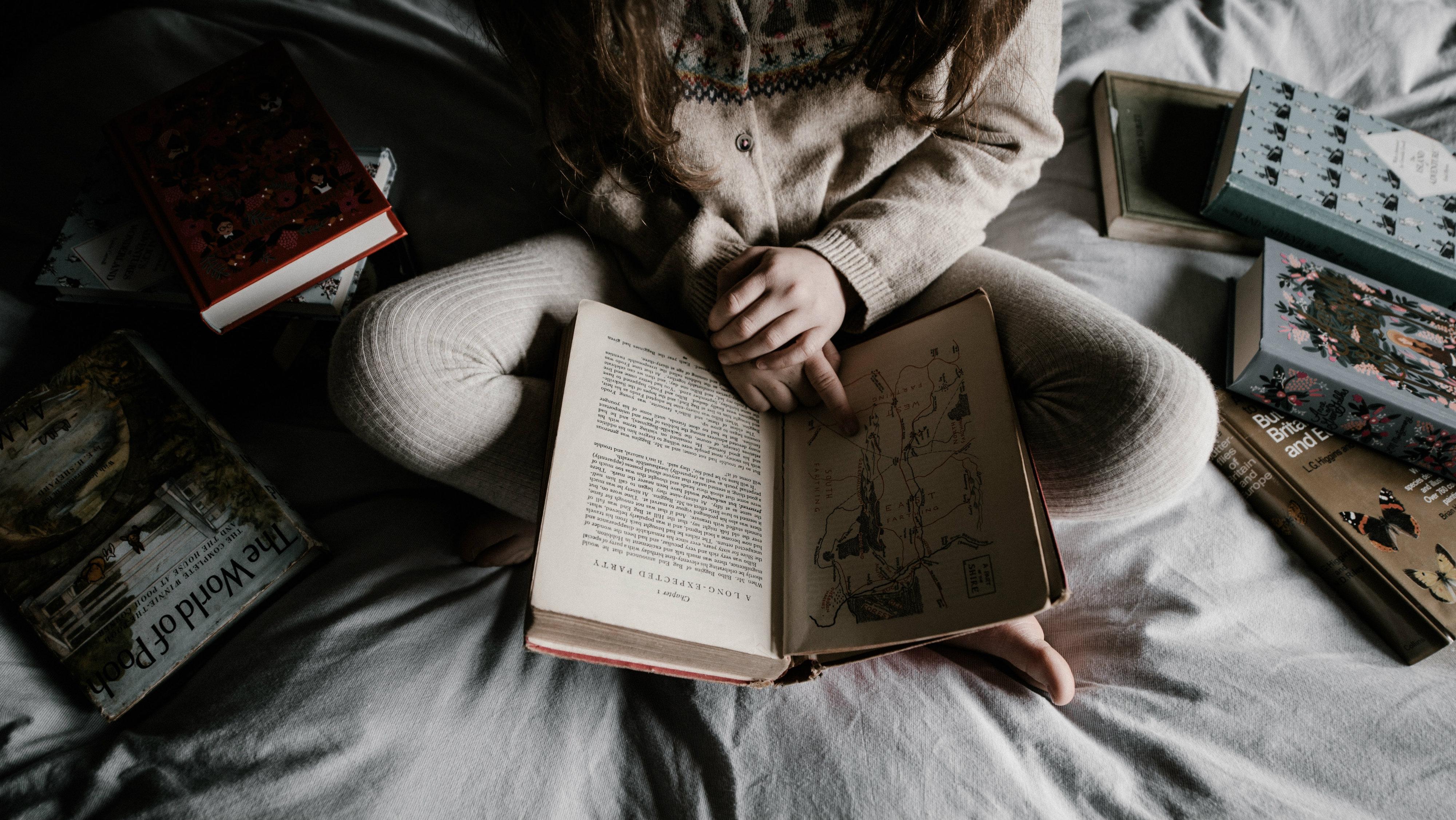 Girl reading.