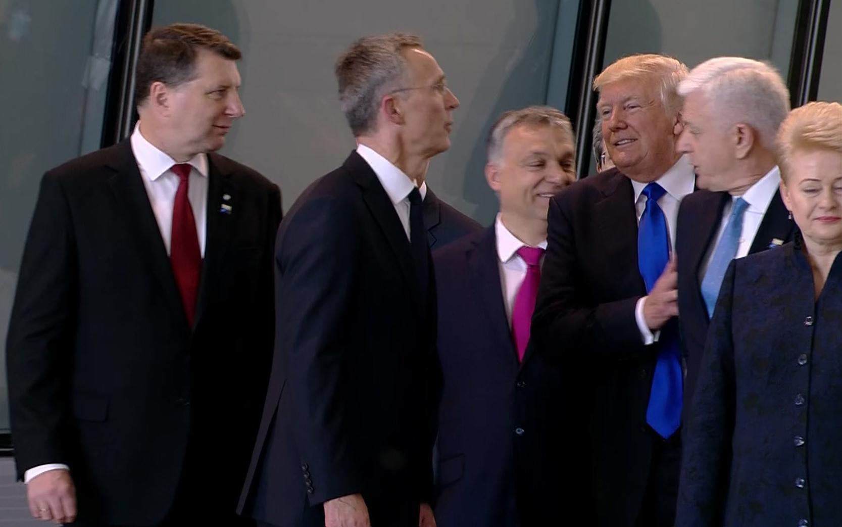 Trump shoves Montenegro's prime minister NATO