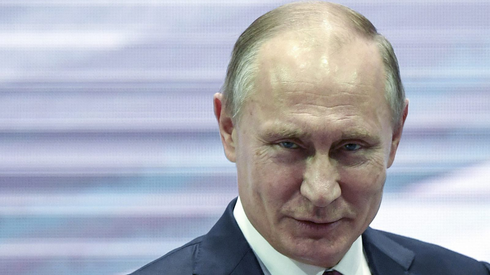 Russian President Vladimir Putin speaks at the 3rd Railway Congress in Moscow in Moscow, Russia, Wednesday, Nov. 29, 2017. Putin spoke to railway workers about the industry problems and voiced hoped that Russian Railways will work well to serve visitors of the World Cup in Russia next year.