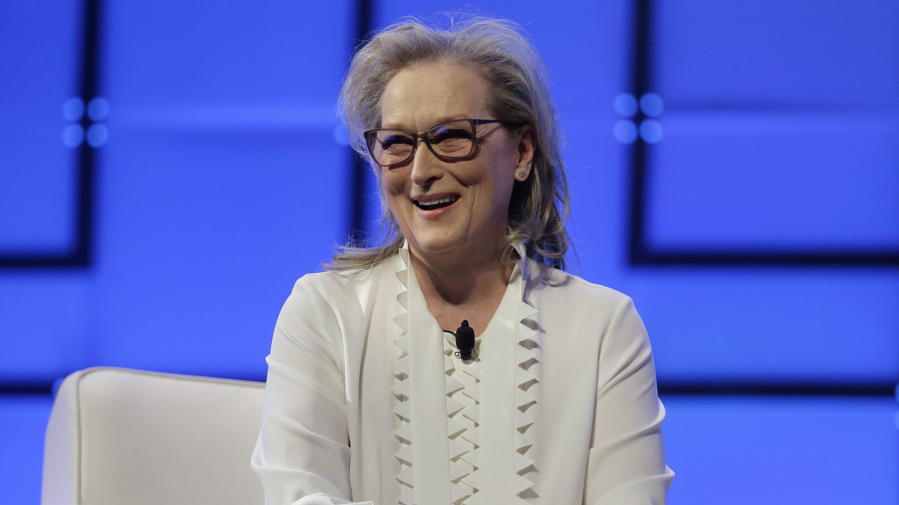 Academy Award-winning actress Meryl Streep appears, Thursday, Dec. 7, 2017, during the 13th annual Massachusetts Conference for Women, in Boston. The conference opened Thursday against a backdrop of expanding allegations of sexual misconduct against prominent men in Hollywood, politics and the media.