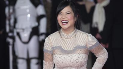 Kelly Marie Tran poses for photographers upon arrival at the premiere of the film 'Star Wars: The Last Jedi' in London, Tuesday, Dec. 12th, 2017.