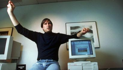 Personal computer pioneer Steve Jobs, is shown in this 1993 photo. (AP Photo/Kristy Macdonald)