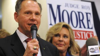 Roy Moore and Kayla Moore