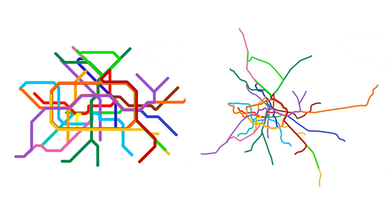 A data visualization of the Berlin subway