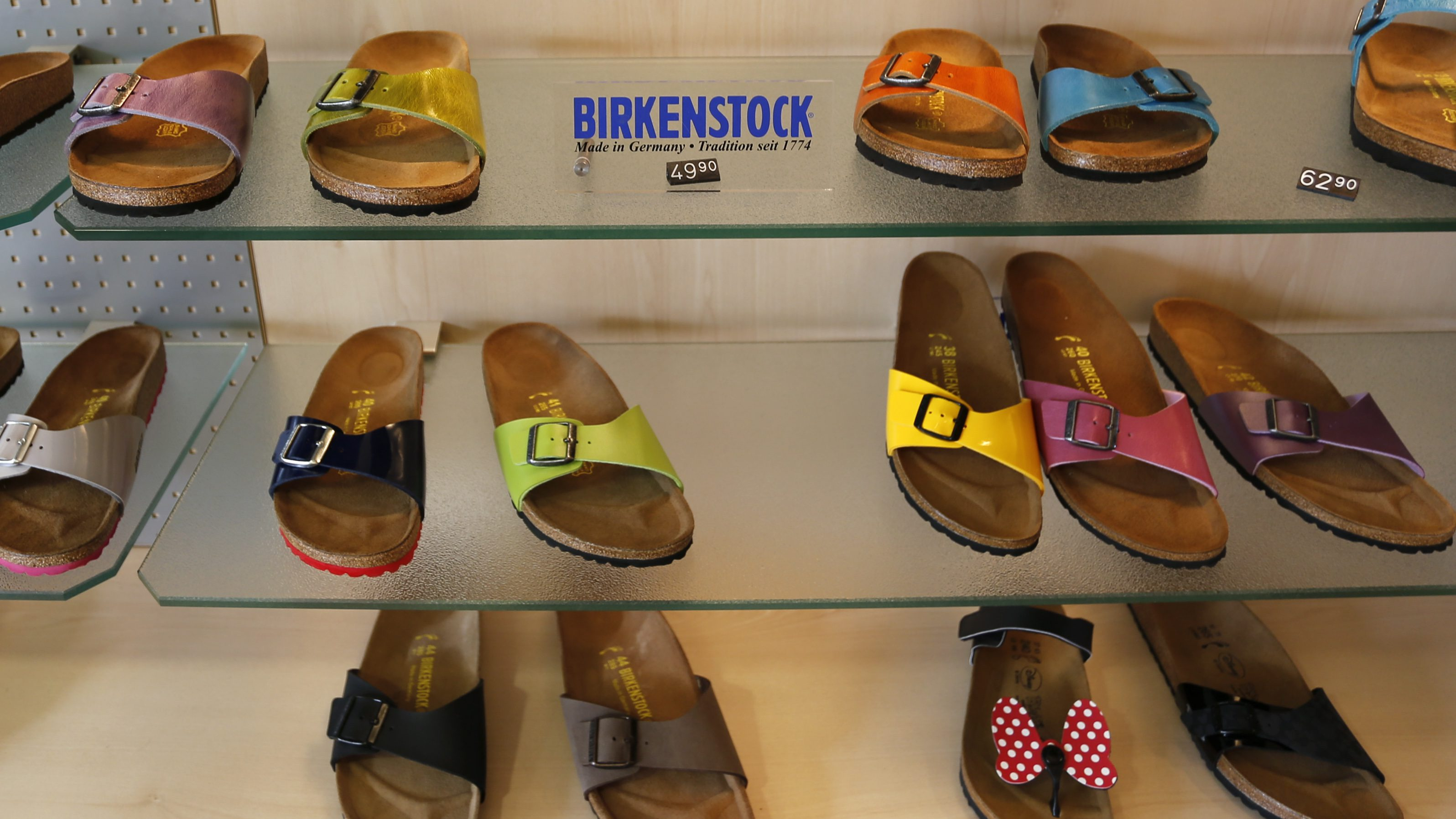 A Birkenstock shoe shop is pictured in Dortmund August 27, 2013. REUTERS/Ina Fassbender (GERMANY - Tags: SOCIETY) - BM2E98R0XGH01