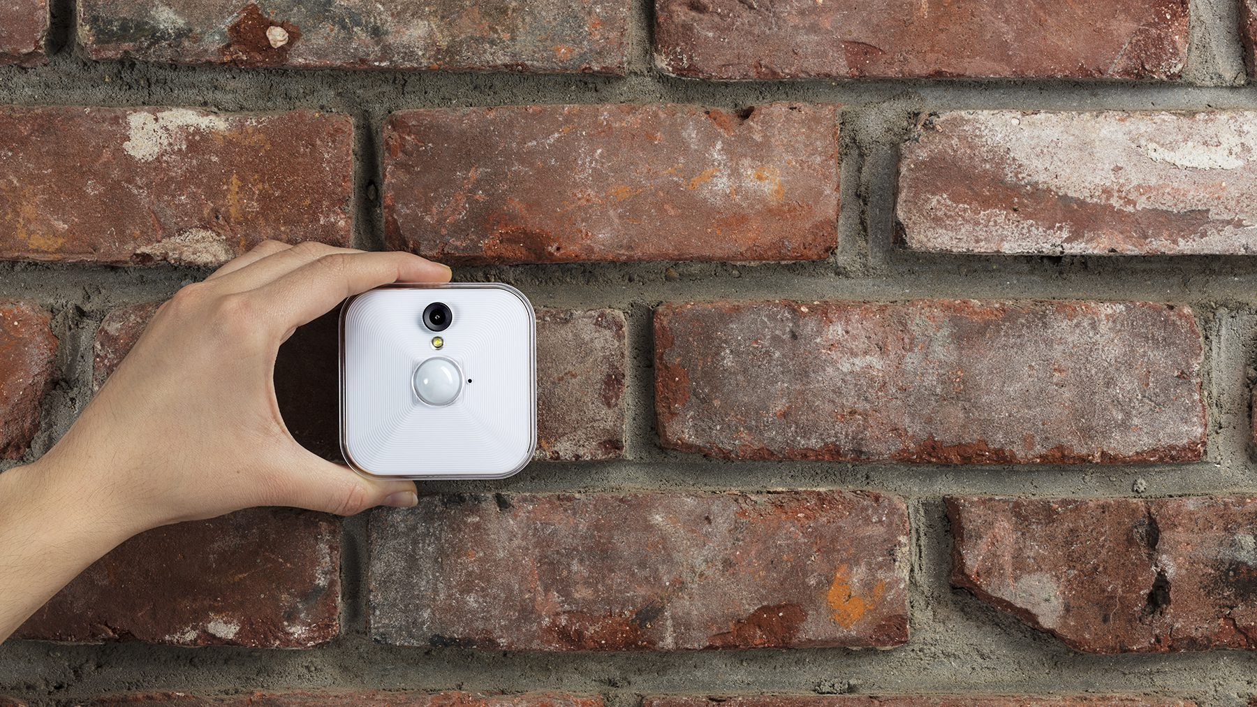 A Blink security camera, now owned by Amazon.