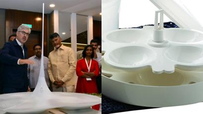 The design of the new Andhra Pradesh capitol building compared to an idli maker.