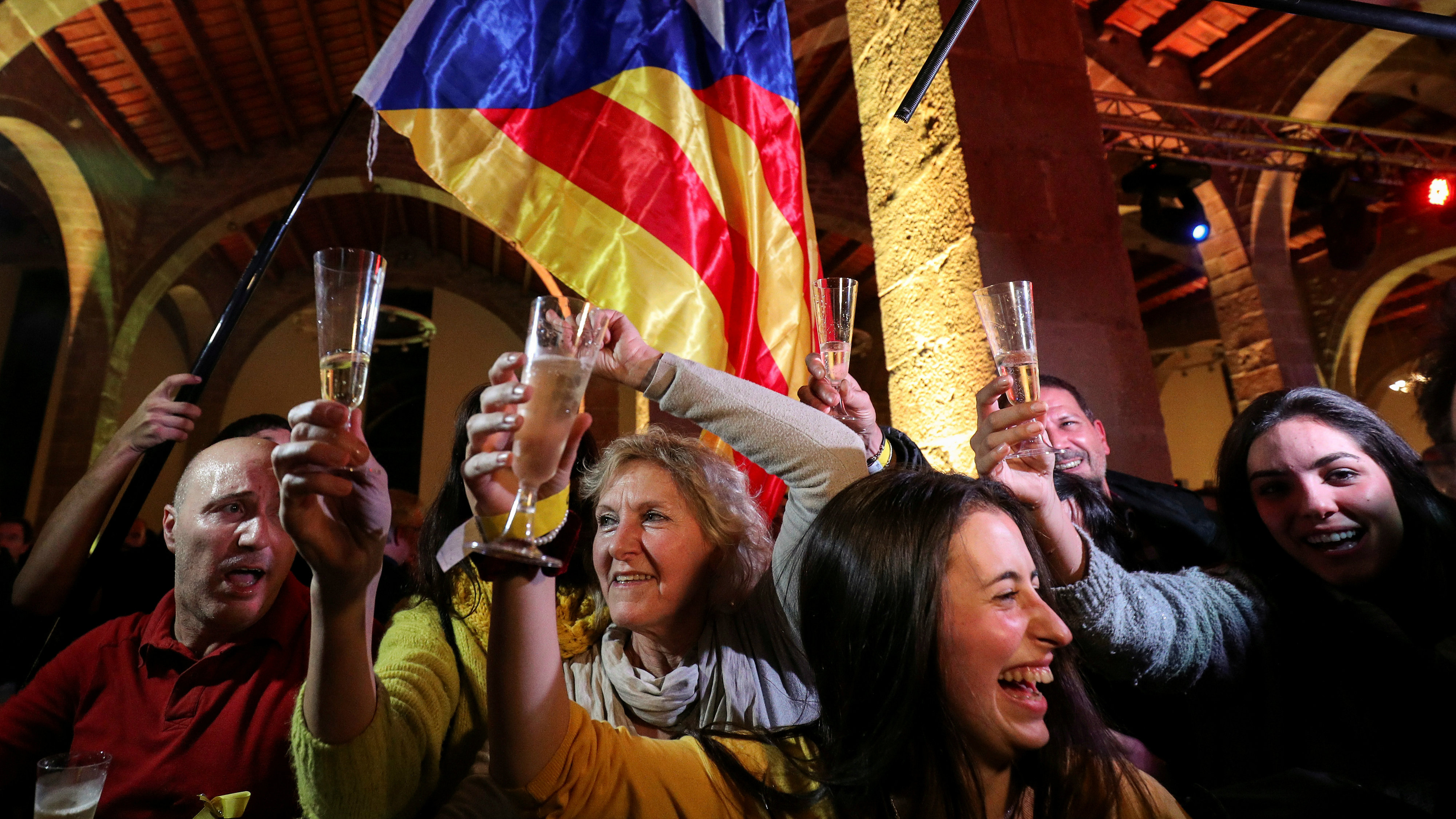People react to results in Catalonia's regional elections