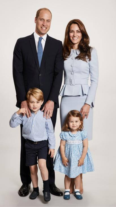 The Cambridges Royal Christmas Card Could Have Been Shot At JCPenney Portrait Studio Quartzy