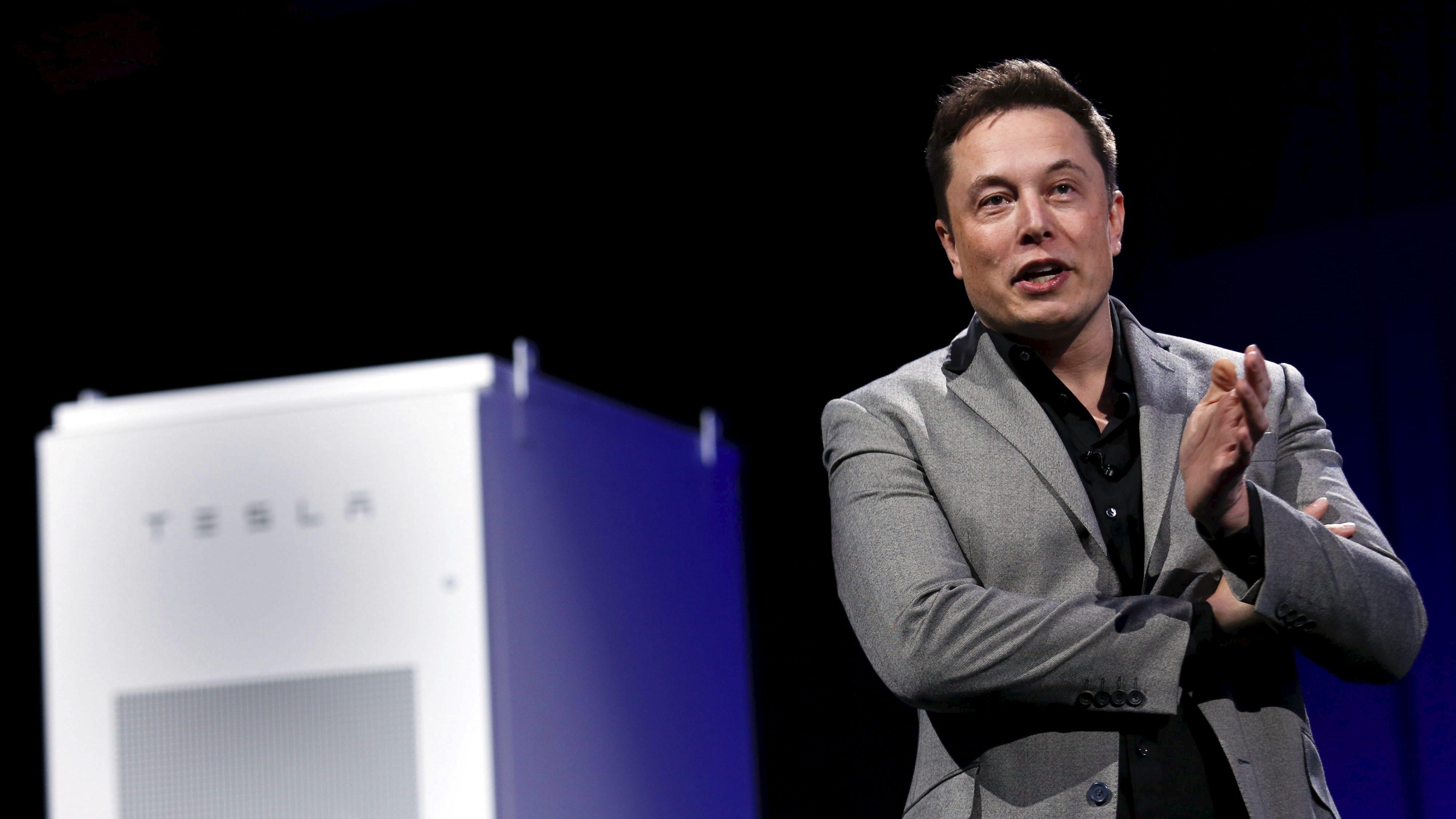Tesla Motors CEO Elon Musk reveals the Tesla Energy Powerwall Home Battery