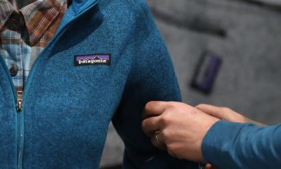 SALT LAKE CITY, UT - JANUARY 11: A person looks at a Patagonia jacket at the 2017 Outdoor Retailers Show, Winter Market, January 11, 2017 in Salt Lake City, Utah. Patagonia, a major retailer at the show, announced February 7, 2017 their withdrawal from the show in Salt Lake City in response to a resolution passed last week by the Utah State legislature and signed by Governor Gary Herbert, calling on the Trump administration to challenge the Bear Ears National Monument designated by former President Barack Obama. (Photo by George Frey/Getty Images)