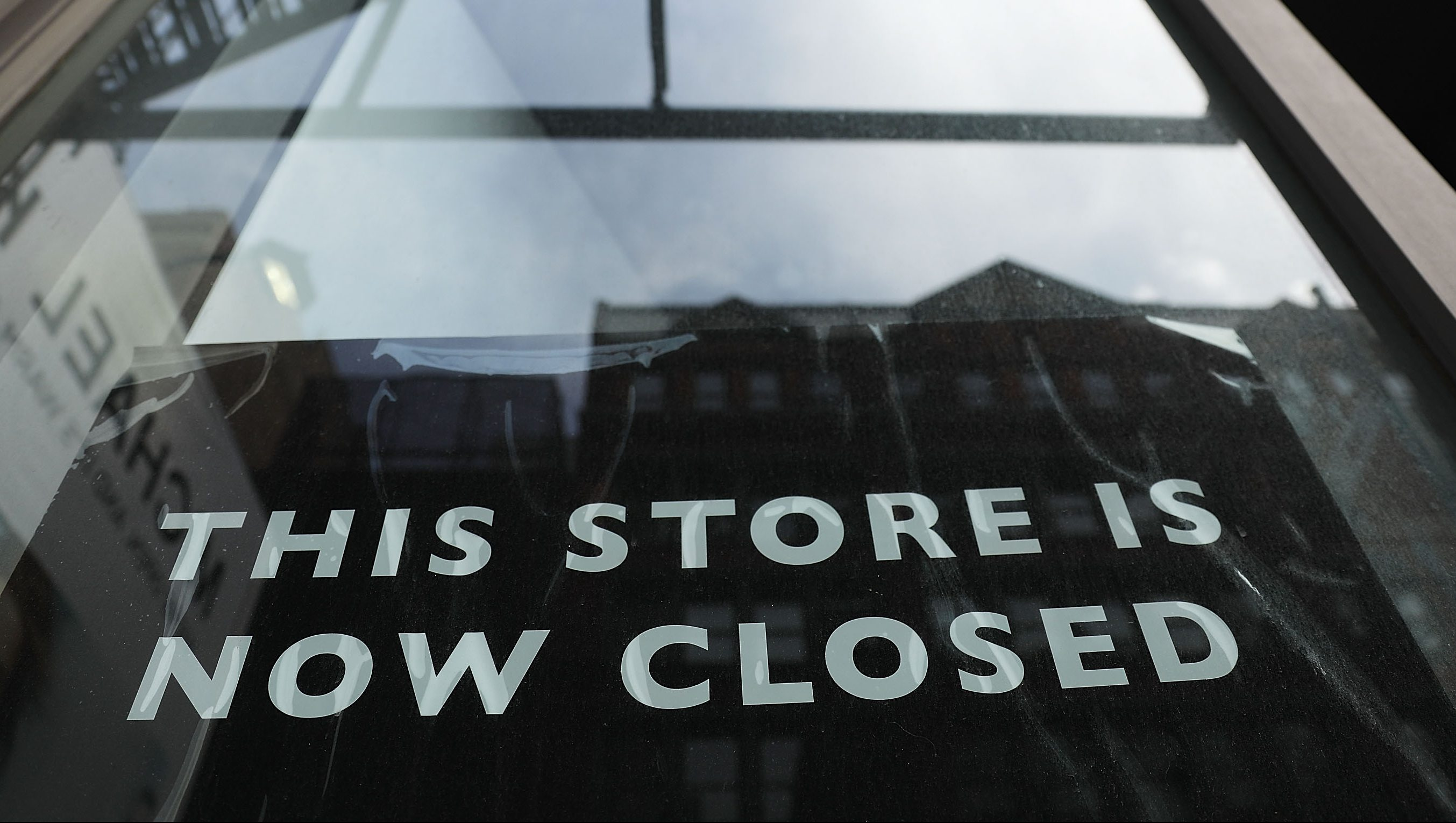 NEW YORK, NY - APRIL 17:  A sign announces the closing of a retail store in lower Manhattan on April 17, 2017 in New York City. As American's shopping habits continue to migrate online, brick-and-mortar stores across the country are closing at an increased rate. For the first time in nearly two years, retail sales declined two months in a row according to recently released figures from the Commerce Department. Millennials, who often prefer Amazon and other online businesses, are also putting more of their money into vacations and restaurants instead of merchandise.  (Photo by Spencer Platt/Getty Images)