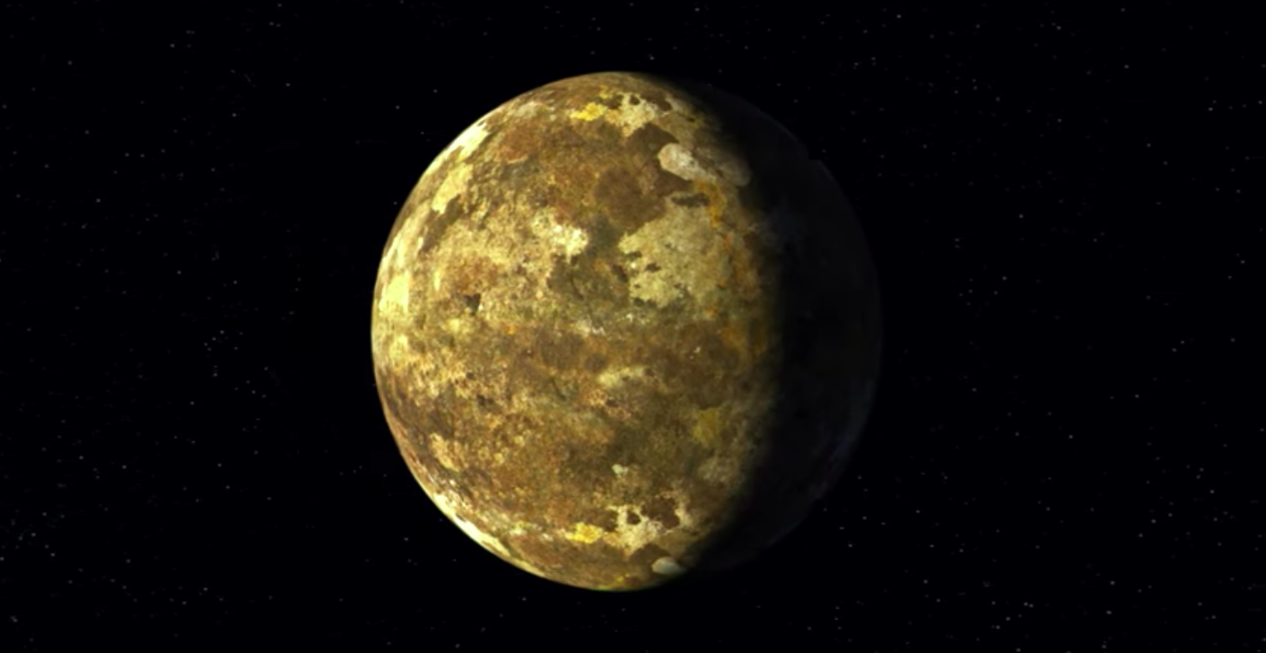 A still image of Keplar-90i from an artist