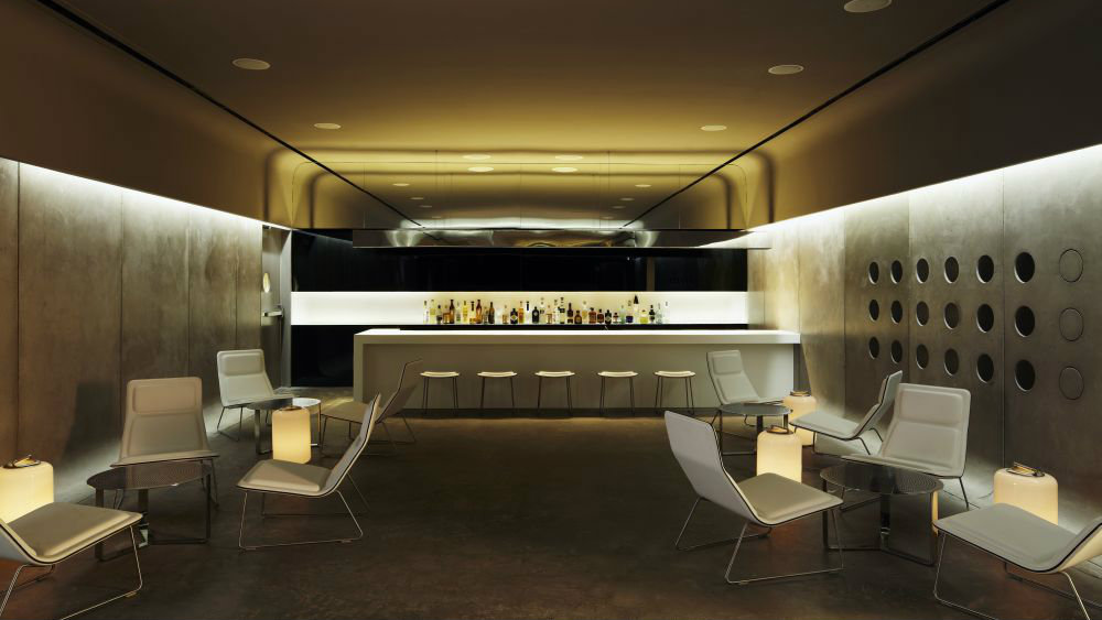 Luxury hotel bar