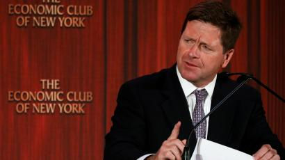 Jay Clayton, Chairman of the U.S. Securities and Exchange Commission (S.E.C.) speaks to the Economic Club of New York in New York City, U.S.