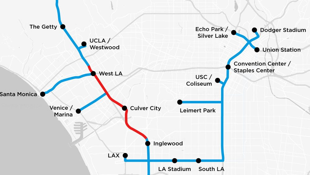 La Subway Map With City Map.Elon Musk Just Published The New Subway Map The Boring Company Wants