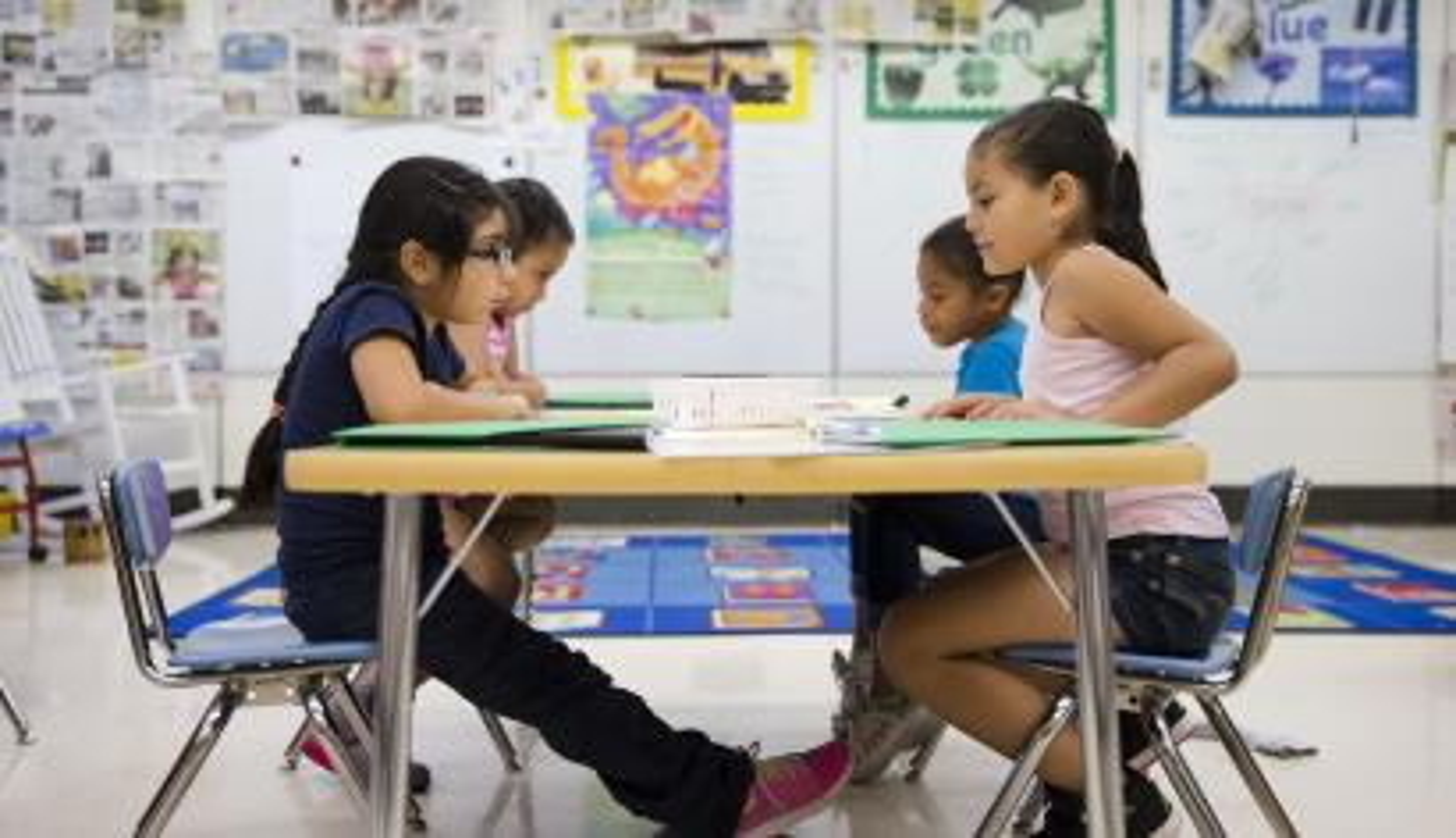 students at majority minority school in the us